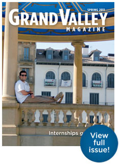 Spring 2011 Grand Valley Magazine cover